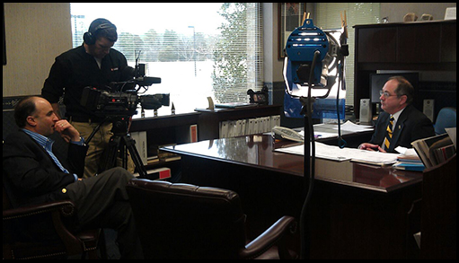 Maritime TV Interview with Interim Director Chuck Eser — at Calhoon Engineering school M.E.B.A.