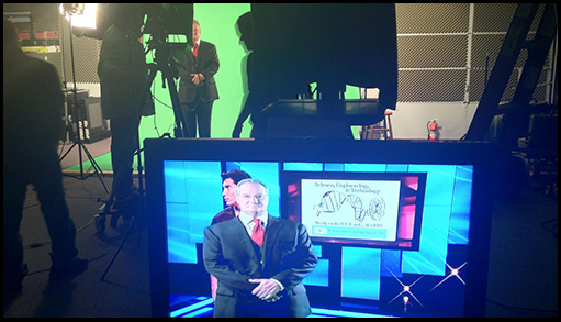 Providing some green screen magic for the Entertainment Industries Council 2012 PRISM Awards Segment