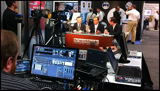 TV Worldwide on the floor at FOSE